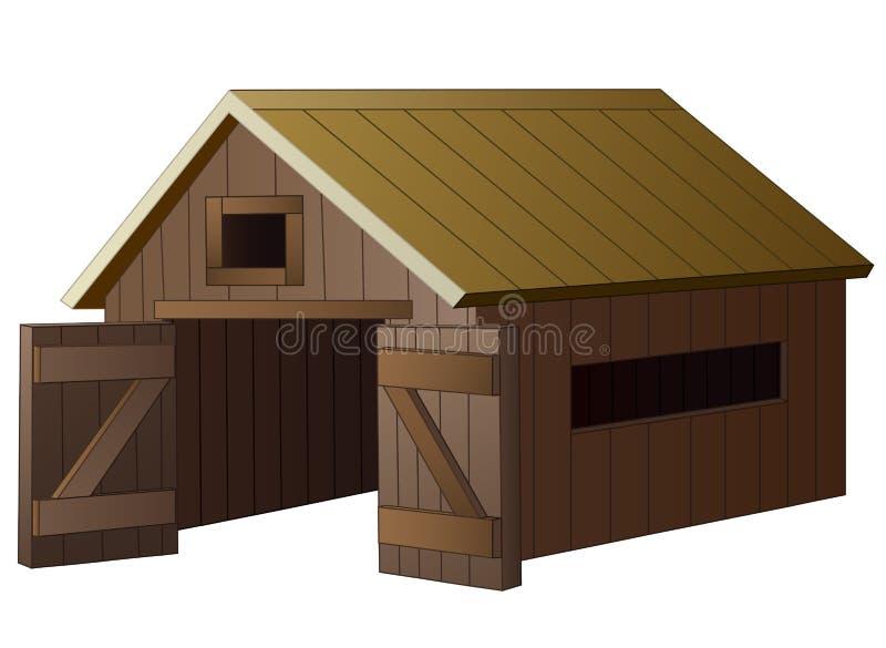 Шарж дома фермы иллюстрация штока