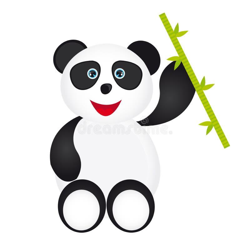 Шарж панды иллюстрация штока