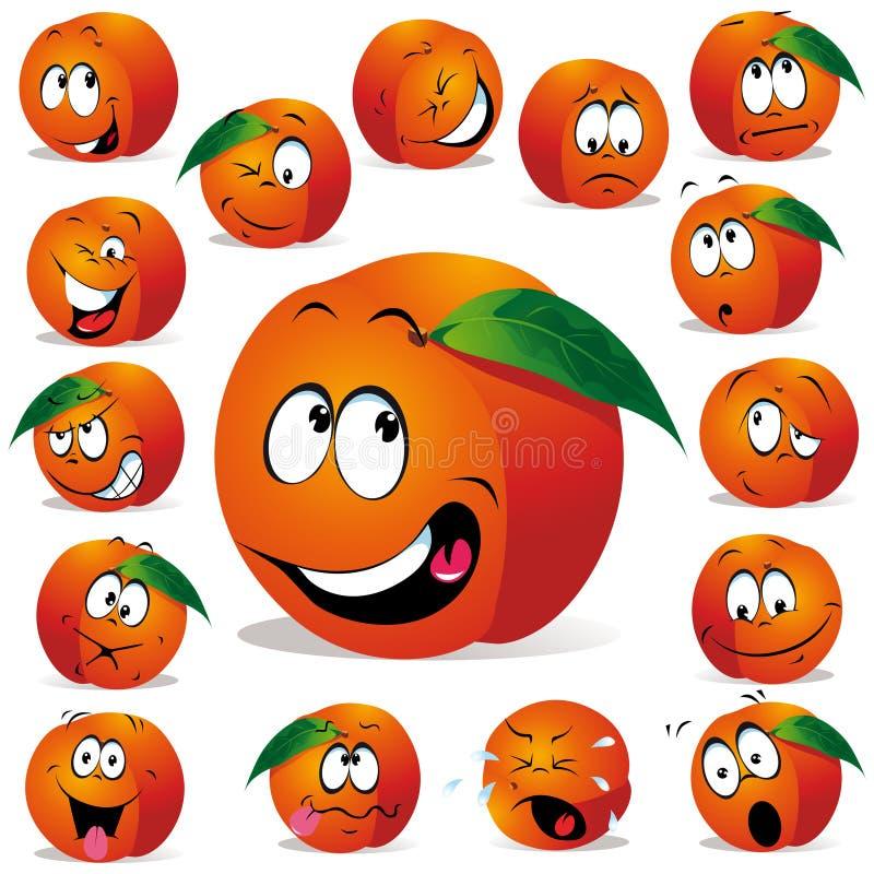 Шарж персика бесплатная иллюстрация