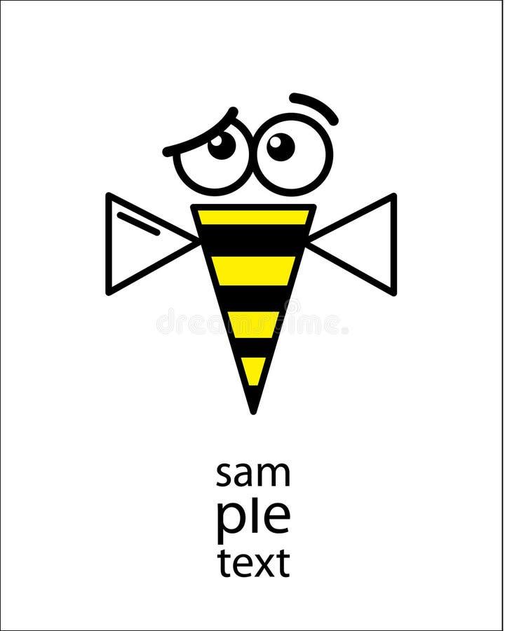 шарж пчелы иллюстрация штока