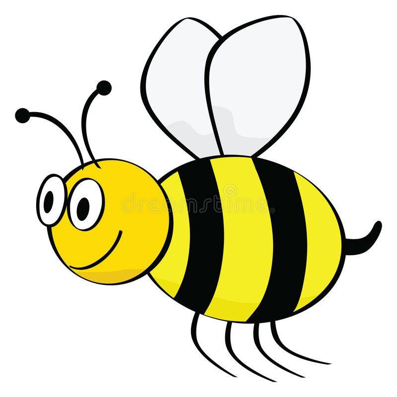 шарж пчелы иллюстрация вектора