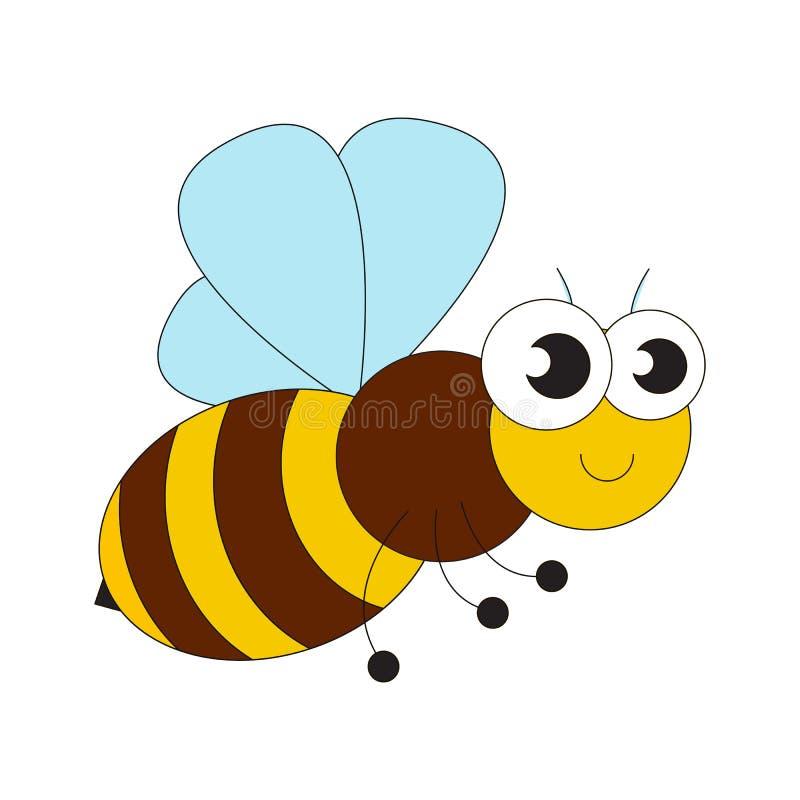 Шарж пчелы меда иллюстрация вектора