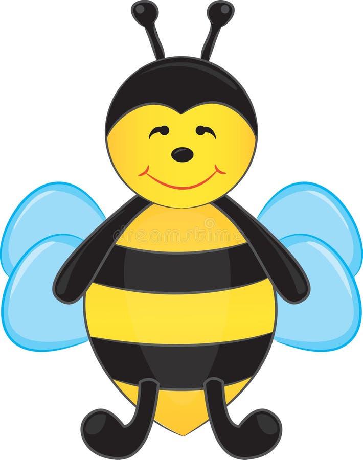 шарж пчелы милый бесплатная иллюстрация