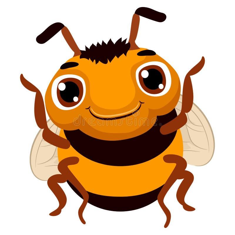 шарж пчелы милый иллюстрация вектора