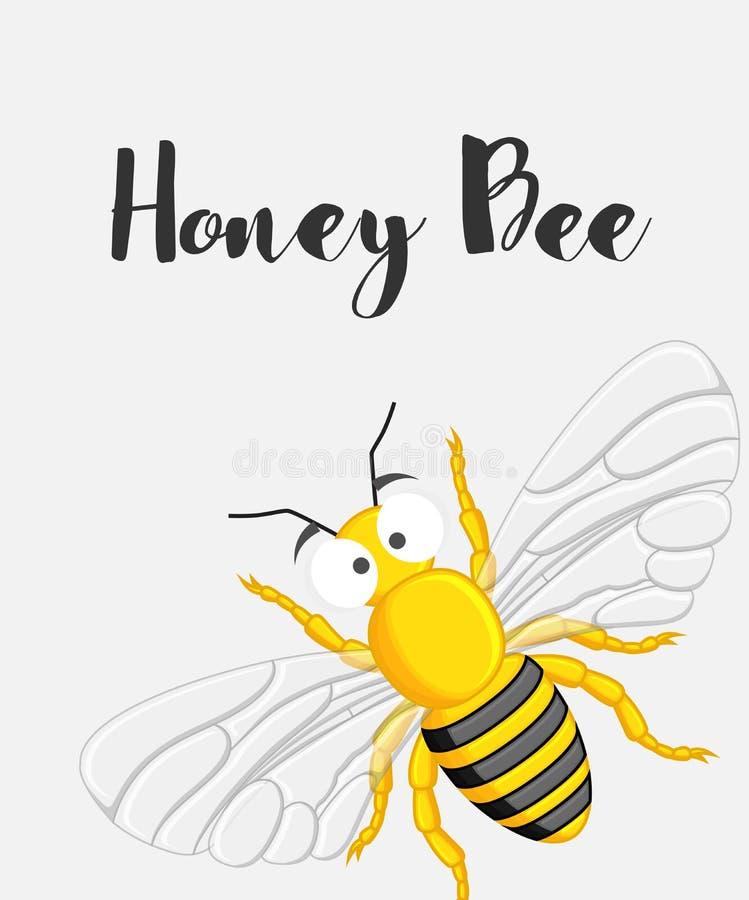 шарж пчелы смешной иллюстрация штока