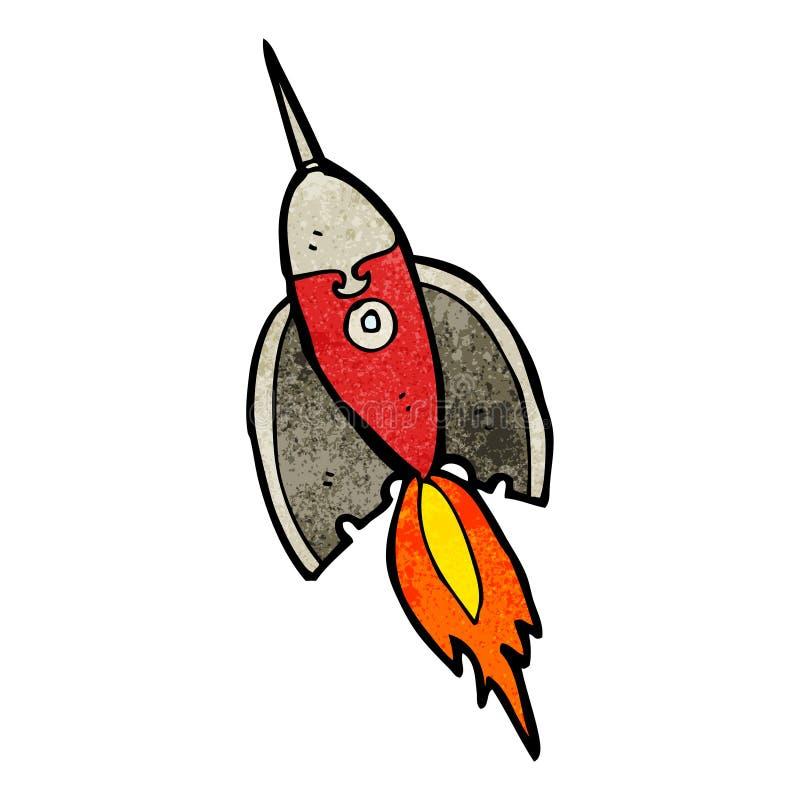 шарж ракеты иллюстрация штока
