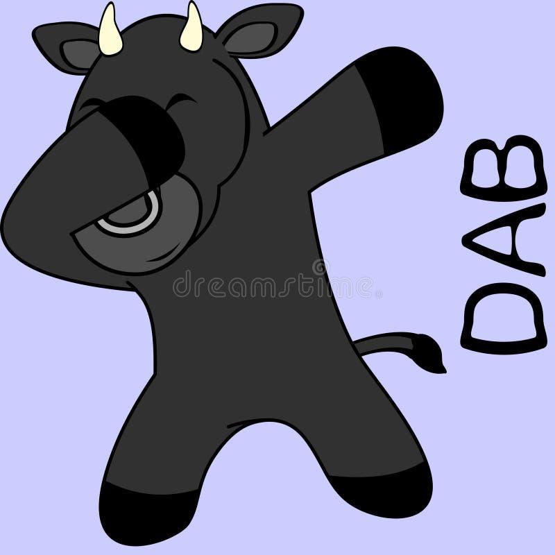 Шарж ребенк быка представления лиманды dabbing бесплатная иллюстрация