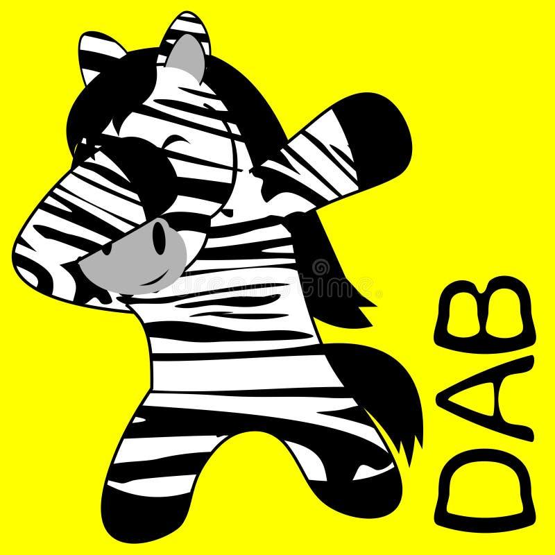 Шарж ребенк зебры представления лиманды dabbing иллюстрация вектора