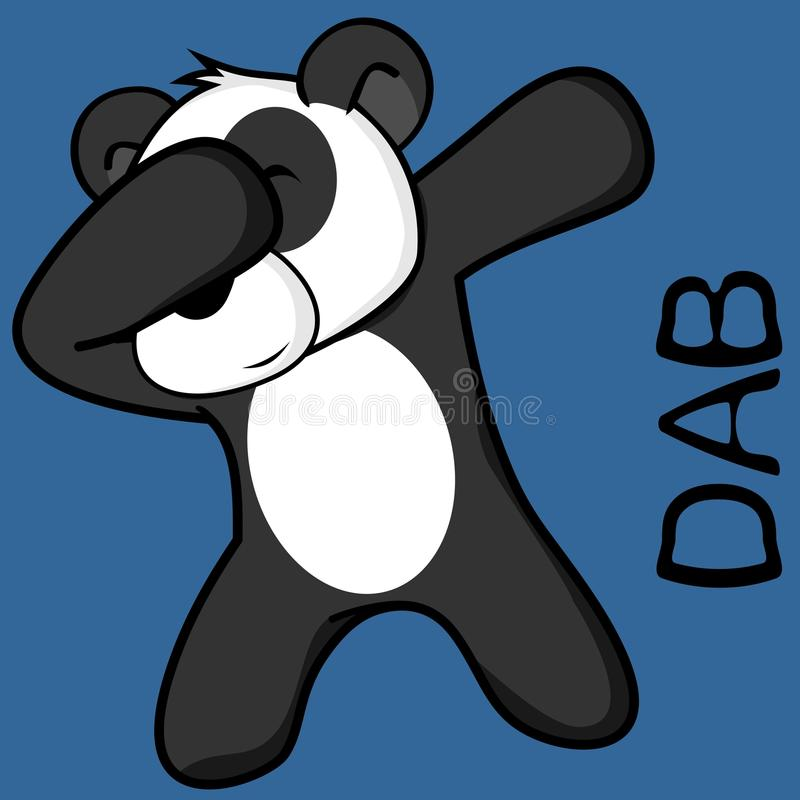 Шарж ребенк медведя панды представления лиманды dabbing иллюстрация вектора