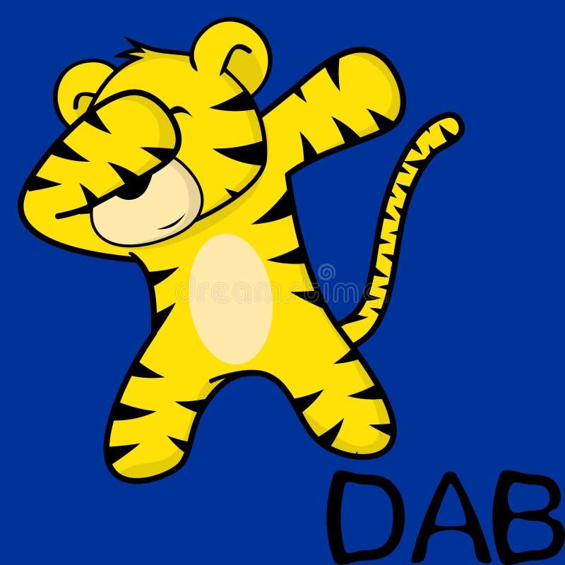 Шарж ребенк тигра представления лиманды dabbing бесплатная иллюстрация