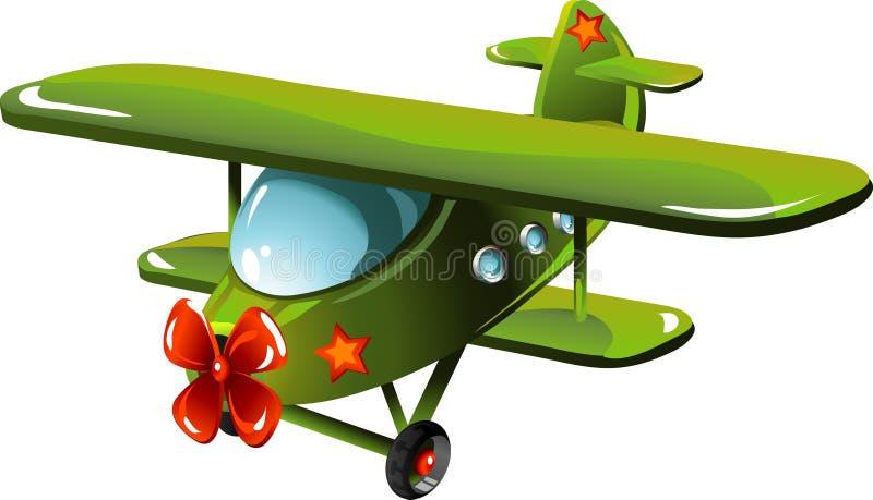 шарж самолета иллюстрация вектора