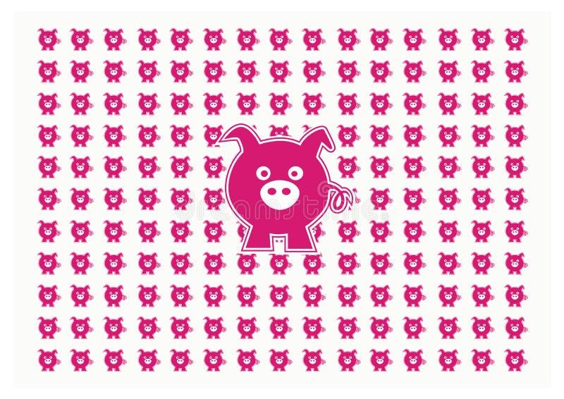 Шарж свиньи стоковая фотография rf