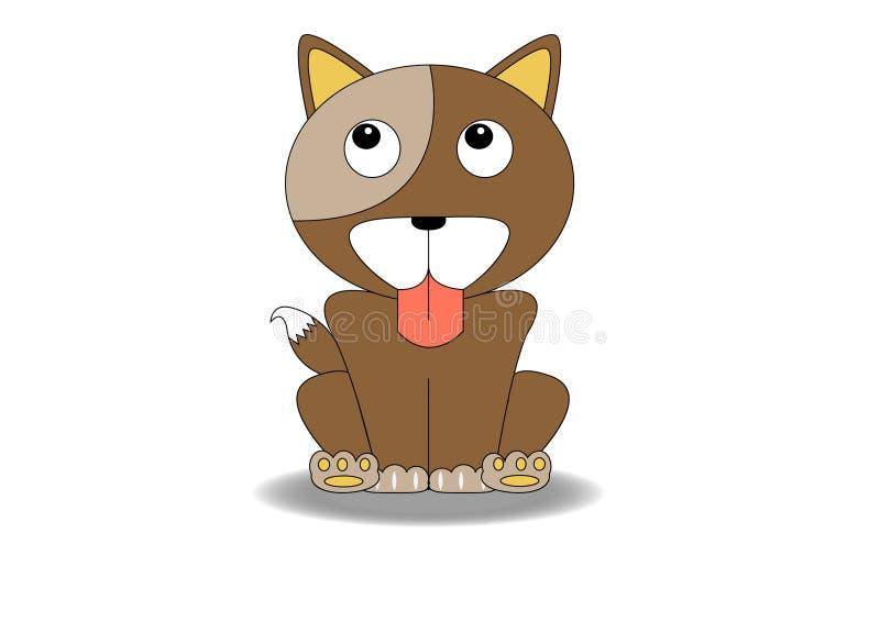 Шарж собаки стоковое изображение rf