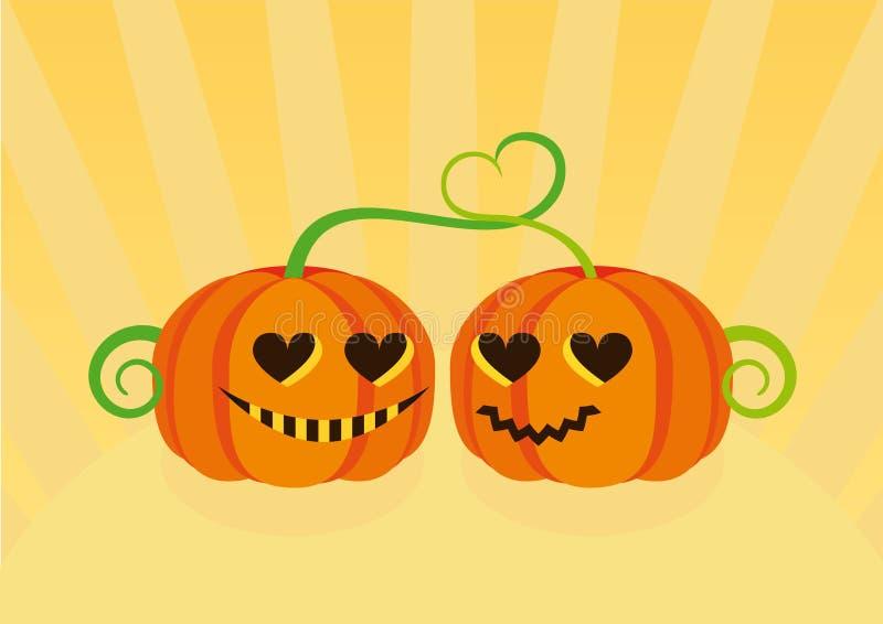 Шарж тыквы хеллоуина иллюстрация вектора