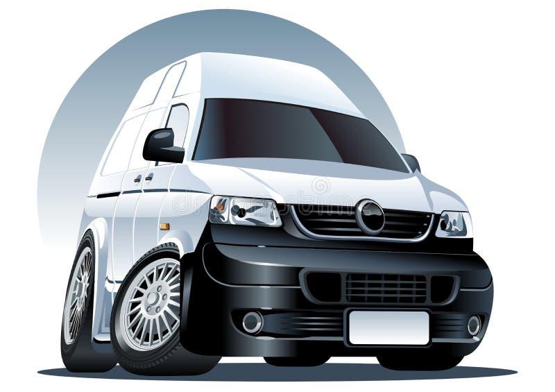 шарж фургон вектор иллюстрация штока