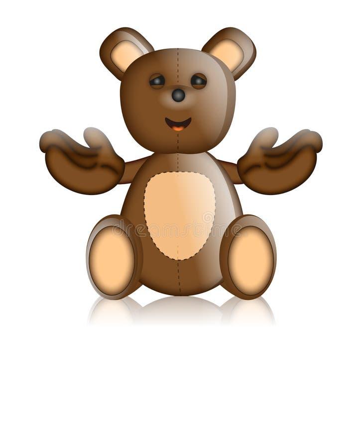 Шарж характера игрушки игрушечного Toby Тед иллюстрация штока