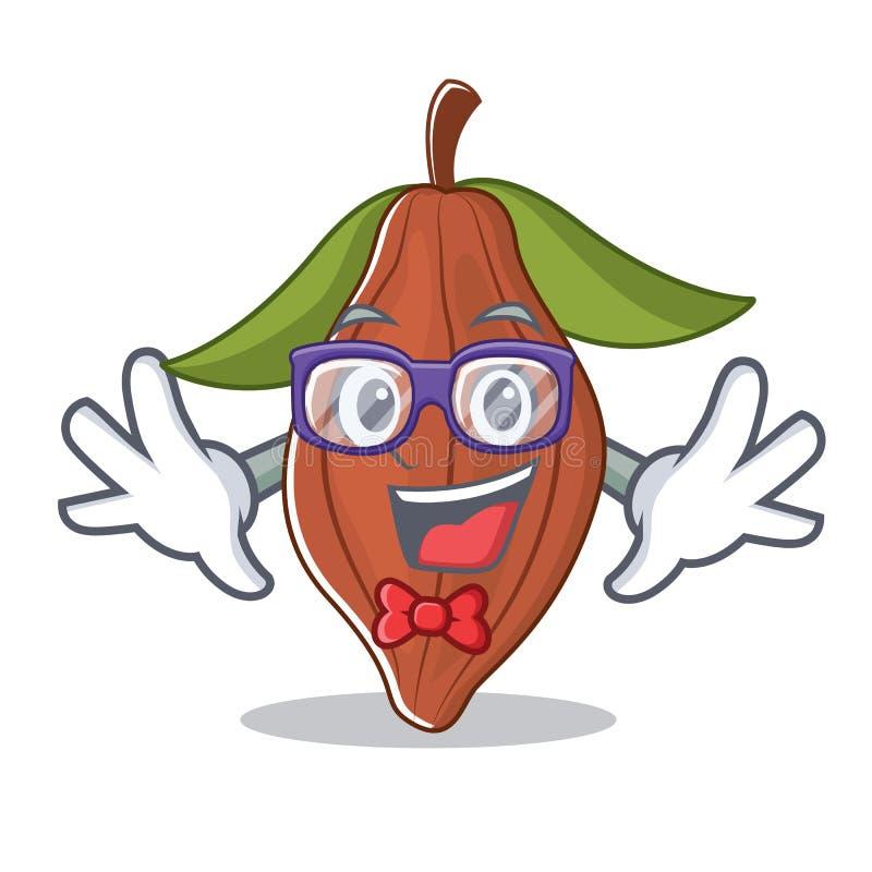 Шарж характера фасоли какао идиота иллюстрация вектора