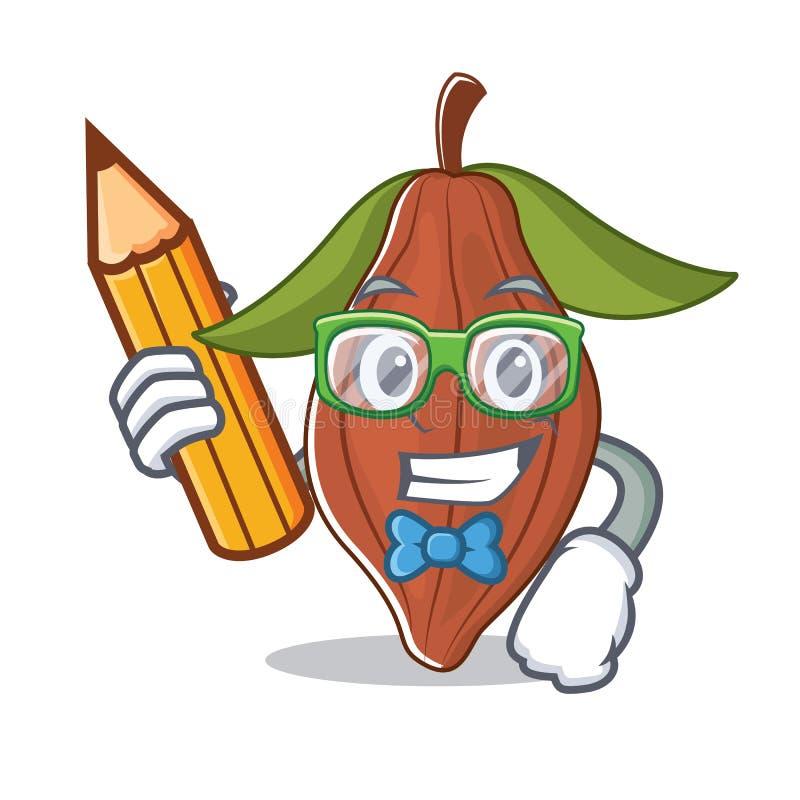 Шарж характера фасоли какао студента бесплатная иллюстрация