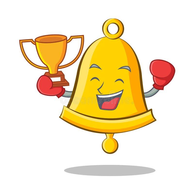 Шарж характера школьного звонка победителя бокса бесплатная иллюстрация