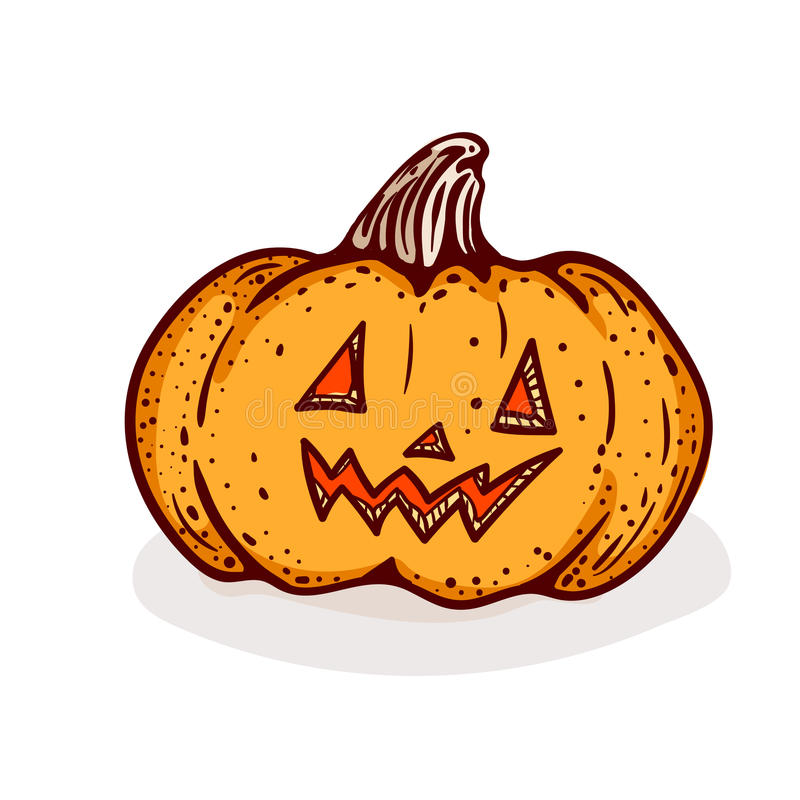 Шарж хеллоуина иллюстрация вектора