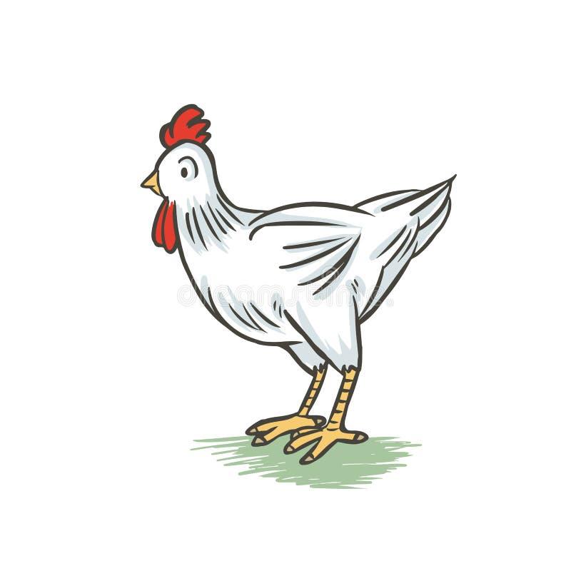 Шарж цыпленка иллюстрация вектора