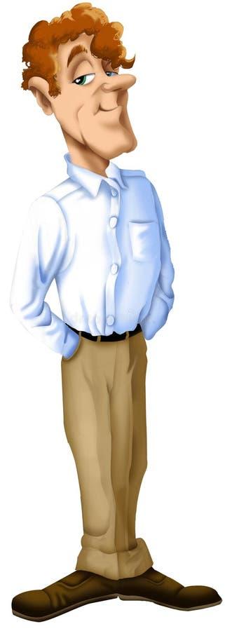 Шарж человека Redhead иллюстрация вектора