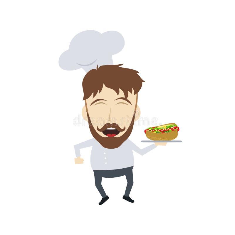 Шарж шеф-повара бесплатная иллюстрация