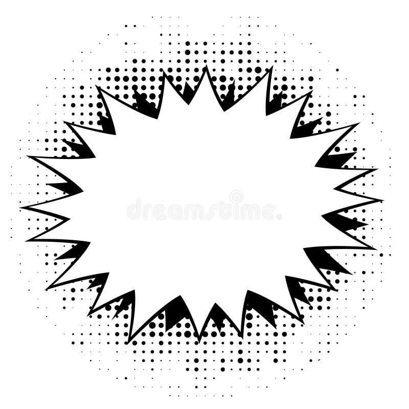 Шарж, шуточные пузыри речи, пустые облака диалога с полутоновым изображением бесплатная иллюстрация