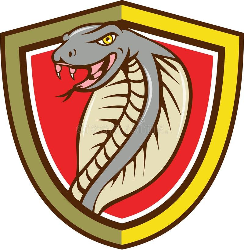 Шарж экрана змейки гадюки кобры головной атакуя бесплатная иллюстрация