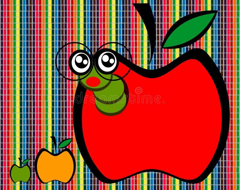 Шарж Яблока стоковые изображения