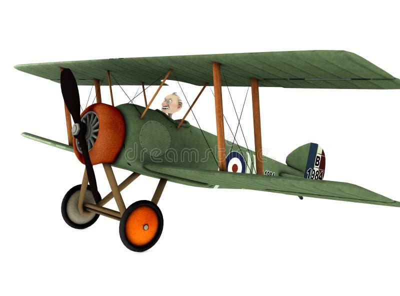 шарж 2 самолет-бипланов бесплатная иллюстрация
