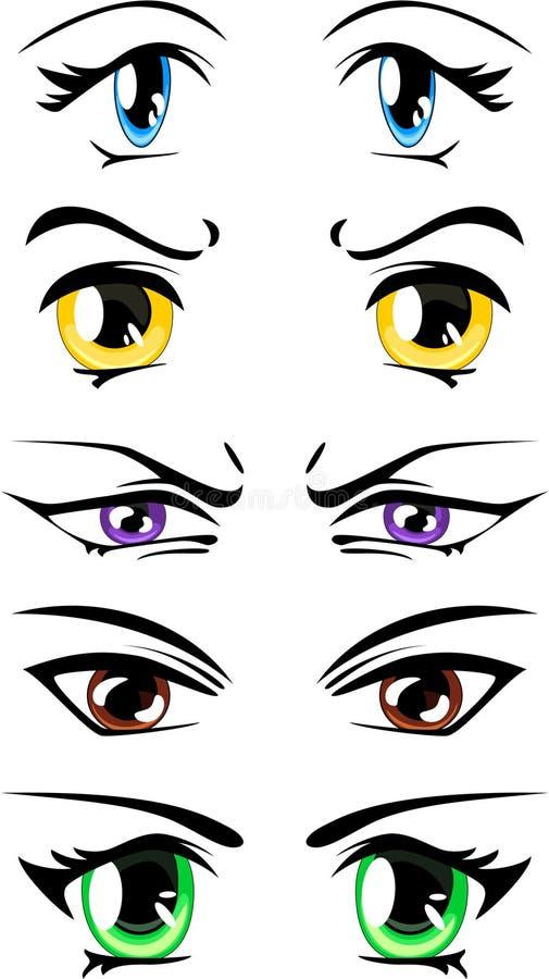 шарж eyes вектор иллюстрация вектора