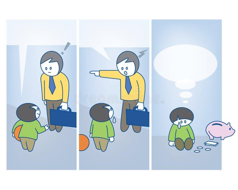 Шарж Fatherhood бесплатная иллюстрация