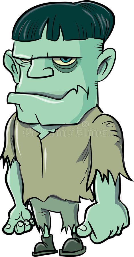 Шарж Frankenstein иллюстрация вектора