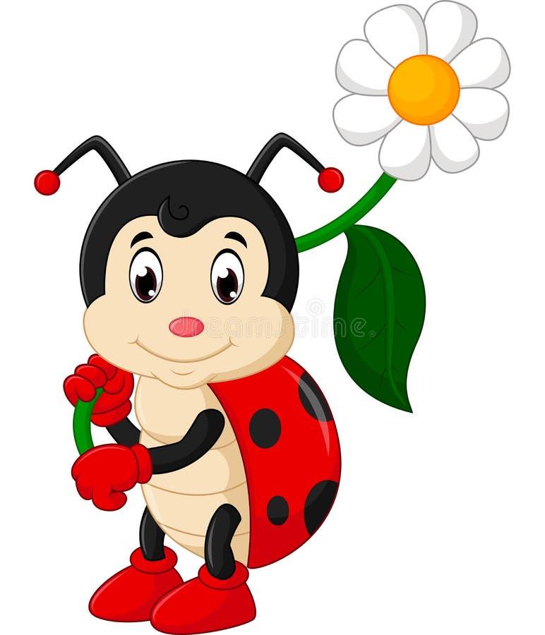 Шарж Ladybug иллюстрация вектора