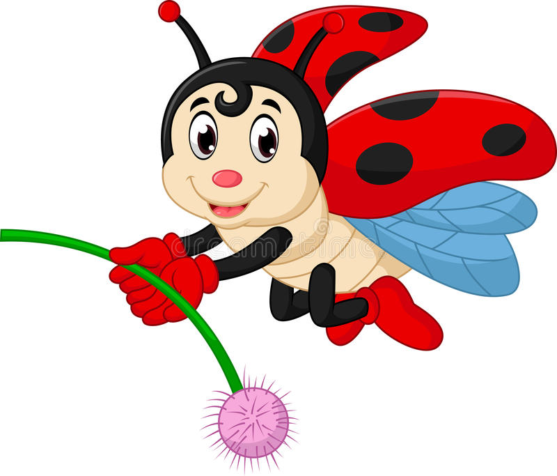 Шарж Ladybug иллюстрация штока