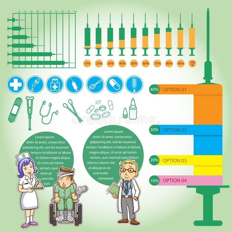 Шарж medica графиков информации бесплатная иллюстрация