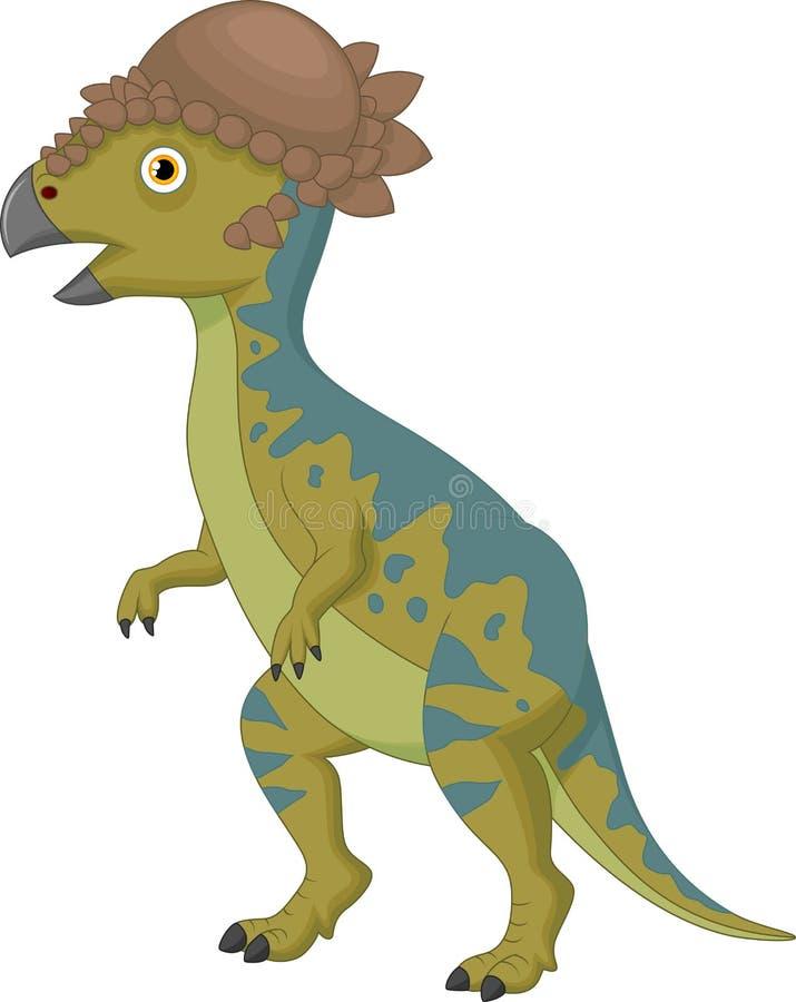 Шарж Pachycephalosaurus иллюстрация вектора