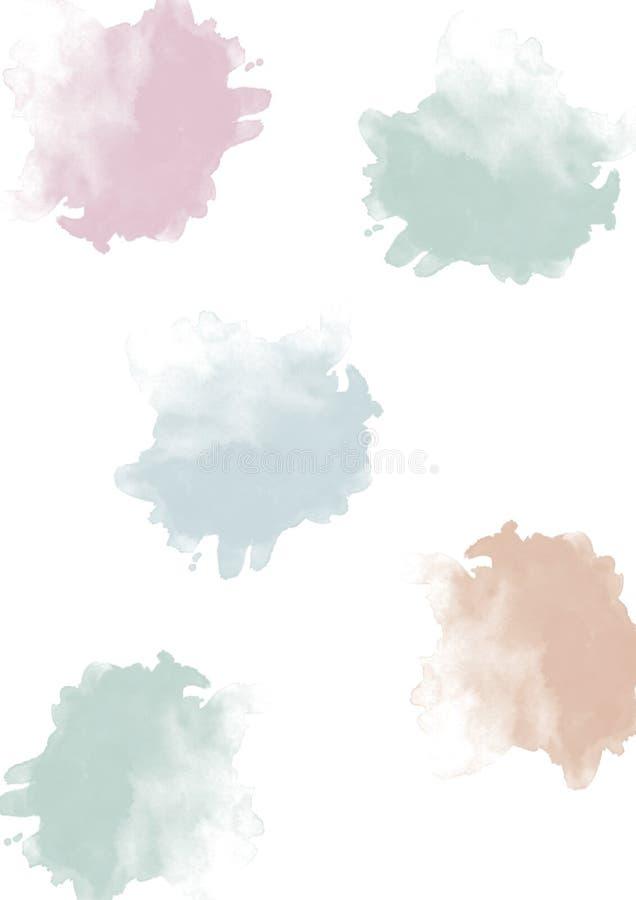 Шарики акварели пастельные стоковые фото