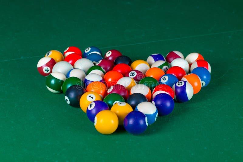 Шарики биллиарда в форме сердца стоковое фото