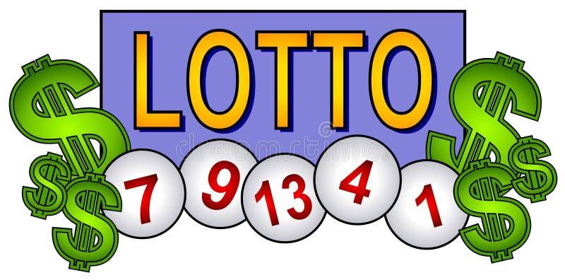 шарики искусства закрепляют lotto лотереи иллюстрация вектора