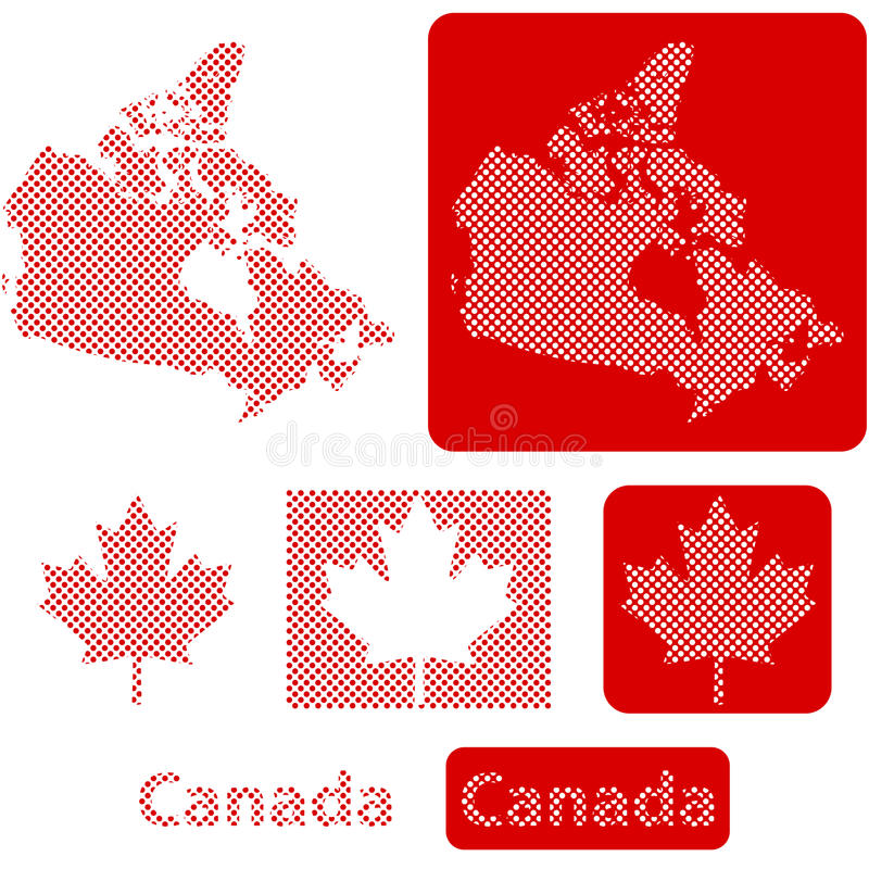Шарики Канады иллюстрация вектора