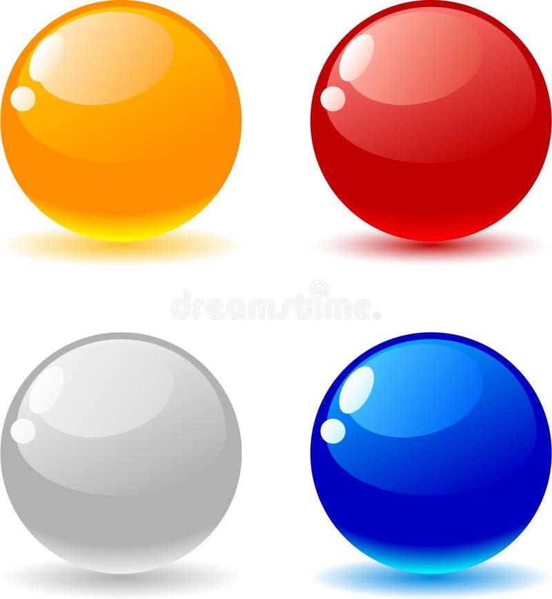 шарики лоснистые бесплатная иллюстрация