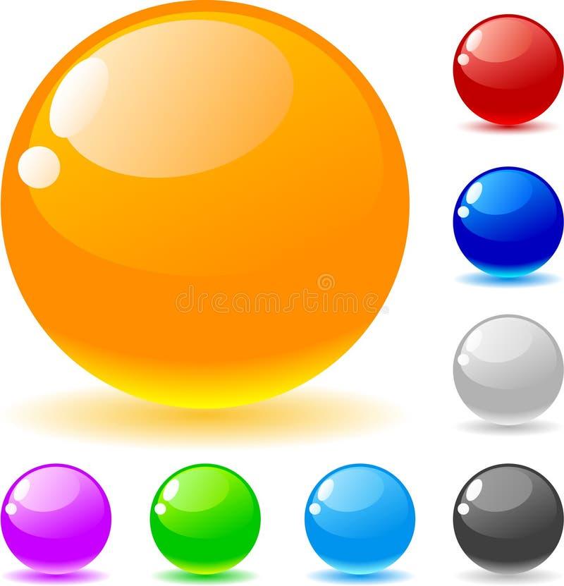 шарики лоснистые иллюстрация вектора