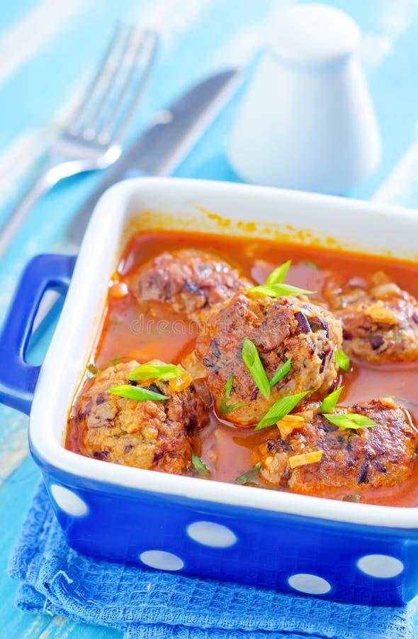 Download Шарики мяса стоковое изображение. изображение насчитывающей closeup - 41659953