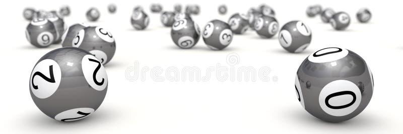 шарики лотереи с глубиной поля иллюстрация вектора