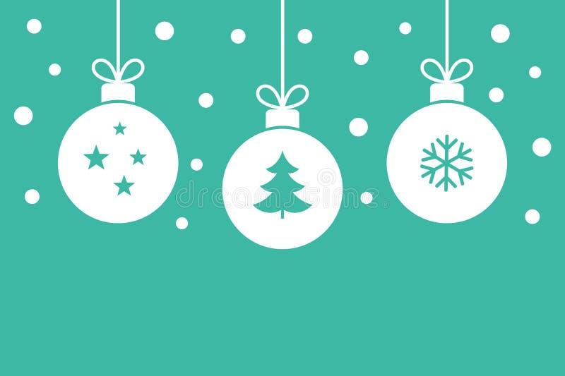 Шарики рождества вися предпосылку орнаментов бесплатная иллюстрация