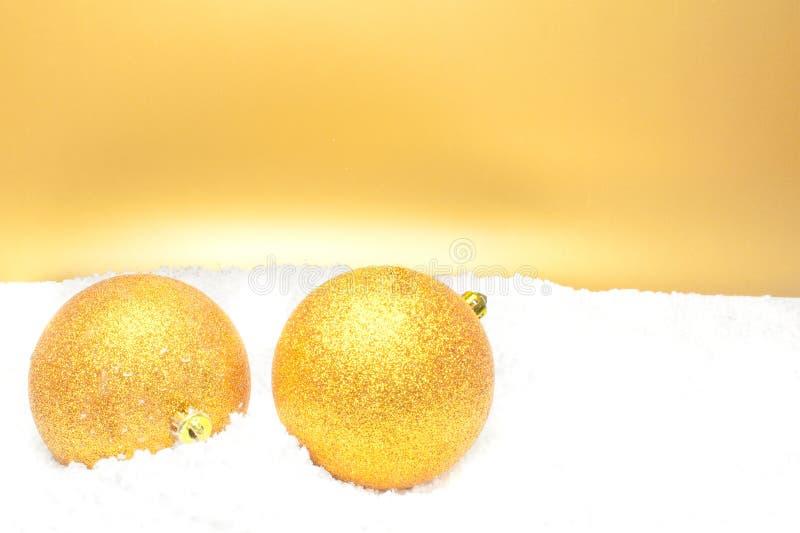 Шарики рождества золота стоковое фото