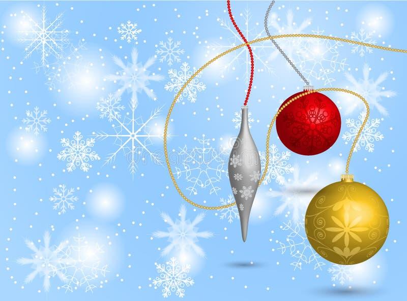 Шарики рождества на предпосылке стоковые изображения