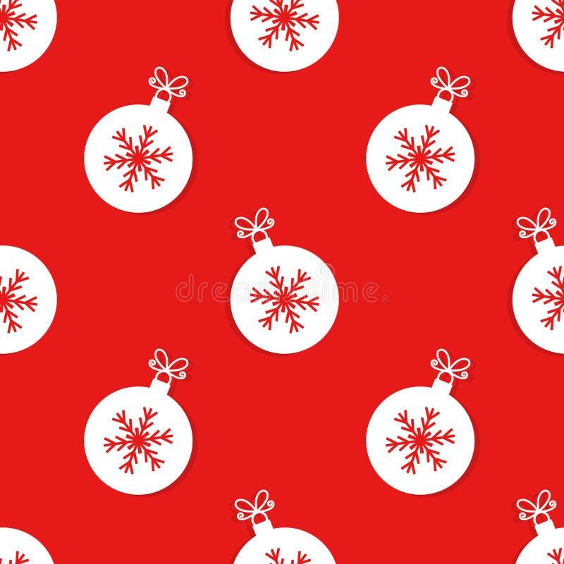 Шарики рождества с картиной снежинки иллюстрация штока
